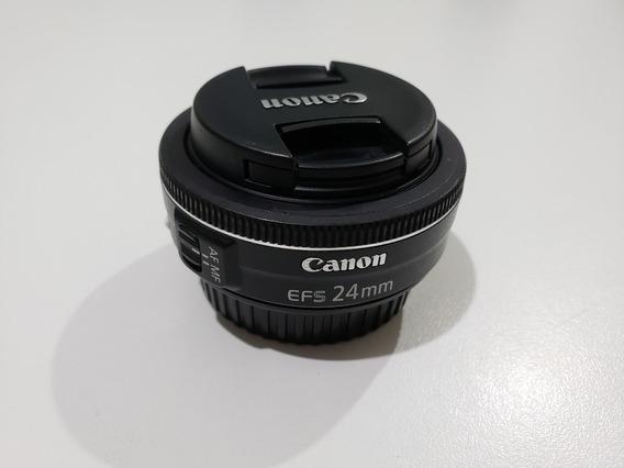 Lente Canon Ef-s 24mm F/2.8 Stm (impecável)