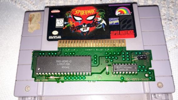 Spider Man + Bomberman 2 100% Original Super Nintendo Snes