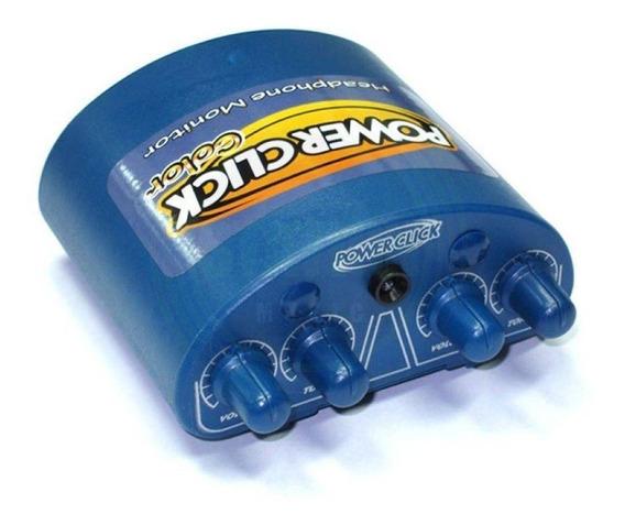 Power Click Color Laranja E Azul - Amplificador Fone Estereo