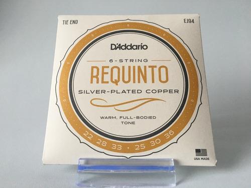 Encordado Nylon D'addario Ej94 Guitarra Requinto Puntera