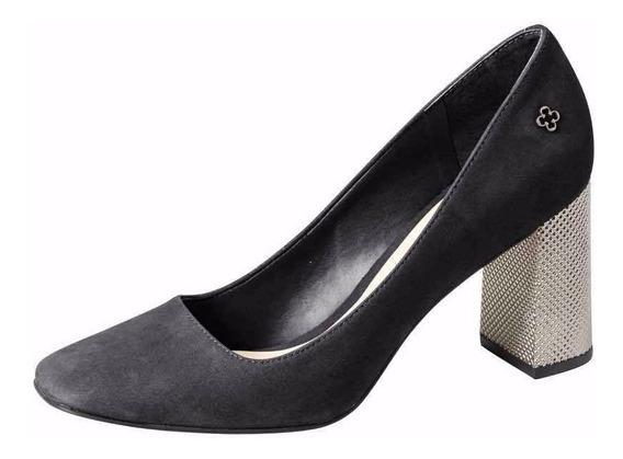 Zapato Mujer De Cuero Con Taco 4010337