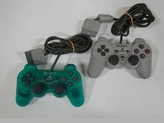 Controle Verde Translúcido Playstation 1 Original Sony