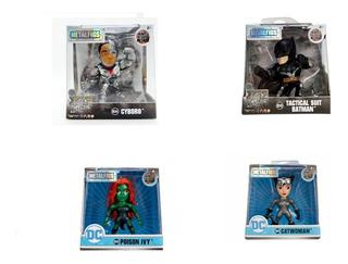 Metalfigs Figuras Dc Liga De La Justicia 7 Cm Batman X 4 Uni