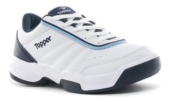 Topper Zapatilla Tenis Tie Break Blanco Azul