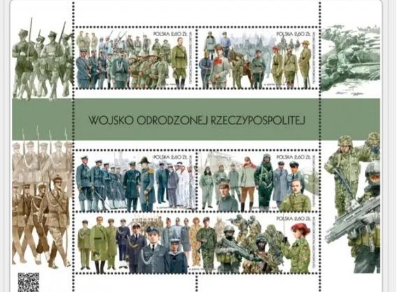 Lote 002 - Polonia, Mini Folha Com 5 Selos Comemorativos
