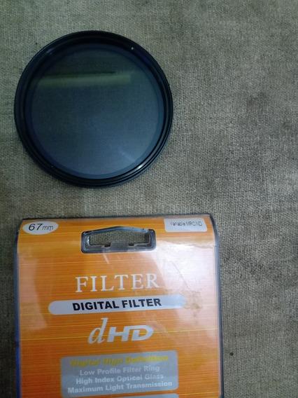 Filtro Nd-67mm Variável De 2 A 400 Greika