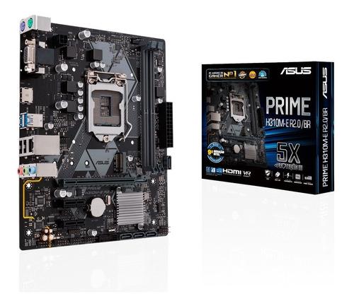 Imagem 1 de 4 de Placa Mae 1151 Asus Prime H310m-e R2.0/br