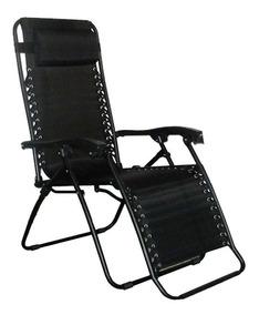 Cadeira Praia Piscina 21 Posições Sevilha Reclinável Preta