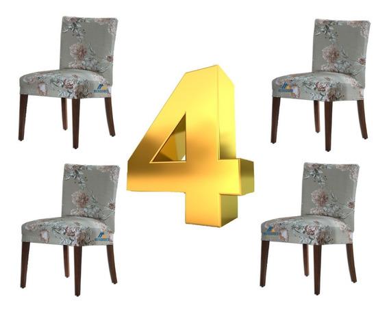 Capa Para Cadeira De Malha Jantar Luxo Supllex - 4 Unidades