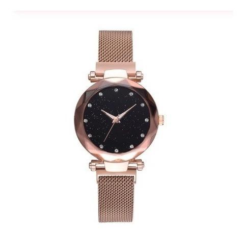 Relógio Mostrador Diamante Céu Estrelado De Luxo De Quartzo