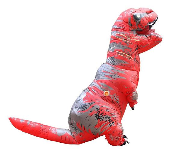 Traje Disfraz Inflable Forma Dinosaurio T-rex Para Adulto