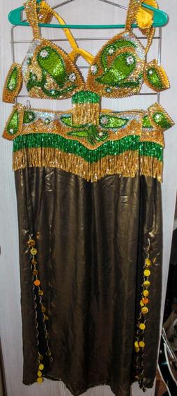 Conjunto Danza Arabe Profesional 5 Piezas Egipcio