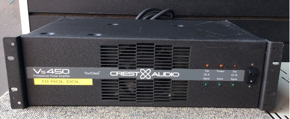 Potencia Amplificador Crest Audio Vs 450