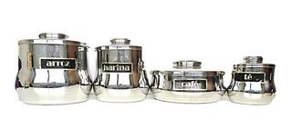Envases De Cocina Renaware 4 Piezas Arroz Harina Café Y Té