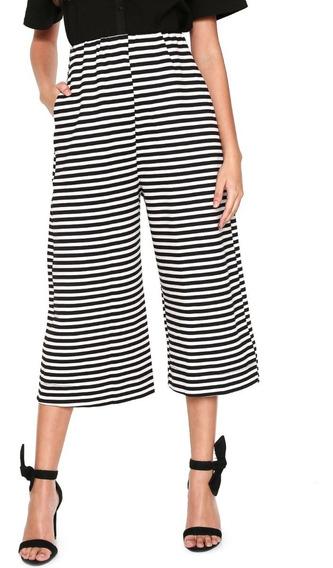 Calça Pantacourt Colmeia Pantalona Feminina Verão 283