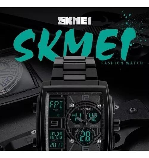 Relógio Skmei Caixa Quadrada Luxo