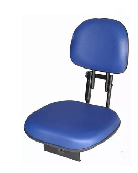 Cadeira Para Barco Estofada Giratória Dobrável Azul