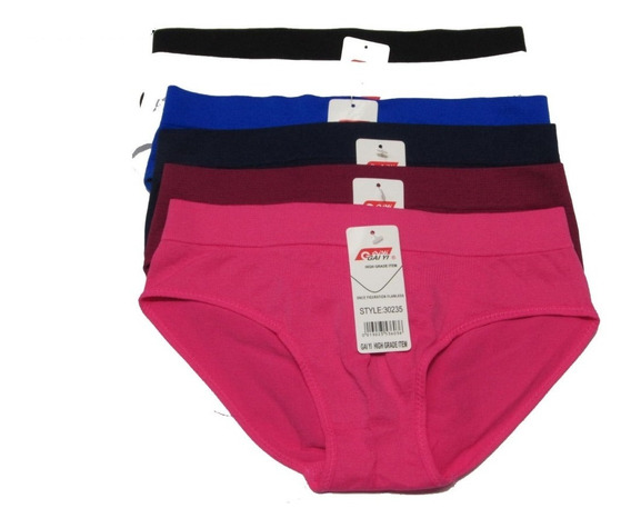 Mayoreo 48pz Pantaleta Bikini Calzon De Licra Marca Gaiyi