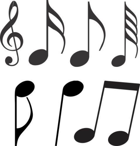 Imagem 1 de 2 de Adesivo Decorativos 21 Notas Musicais De 15 Cm Cada