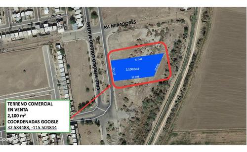 Imagen 1 de 3 de Terreno Comercial De 2,100 M² En Hacienda De Las Torres