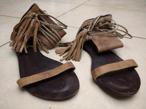 Sandalias Mujer Cuero Sarkany 36