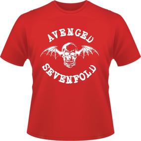 34fc85005a Camiseta Avenged Sevenfold - Camisetas Vermelho Curta com o Melhores ...