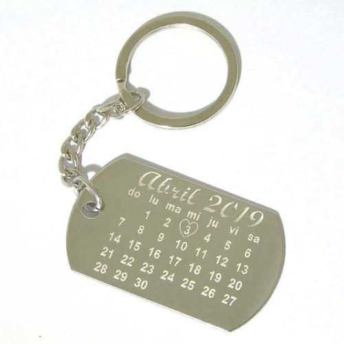 Llavero Acero Personalizado Grabado Calendario Aniversario B