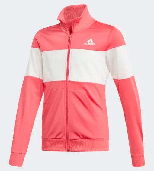 Chamarra Deportiva Para Niñas adidas. Pink/white