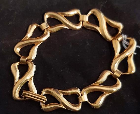Rdf01015 - Pulseira Vintage Em Metal Dourado