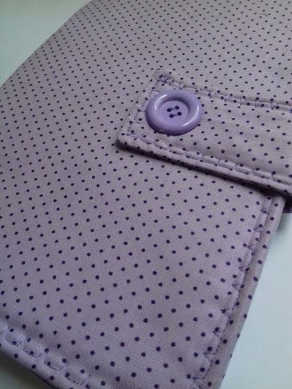 Capa Caderneta De Vacinação - Menina - Poá Roxa