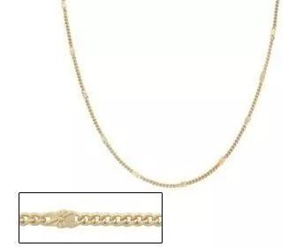 Gargantilha Folheada A Ouro Fio Grumet Trabalhada E Diamanta