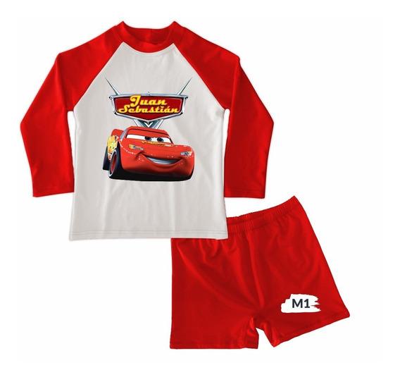 Traje De Baño Niño Conjunto Buzo Cars 3 Mcqueen Mc Queen