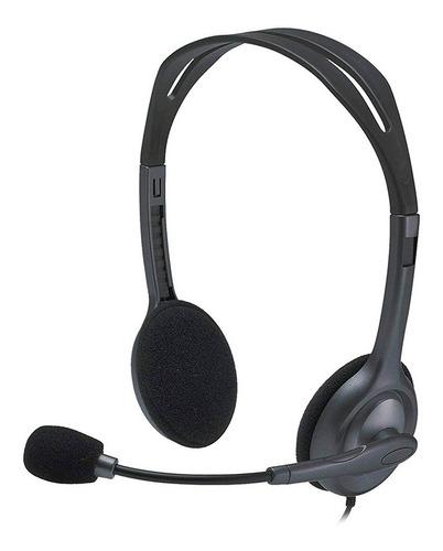 Imagen 1 de 10 de Auricular Vincha Headset Logitech H111 Micrófono 3.5mm Minip