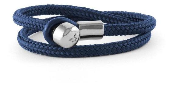 León Blanco - Brazalete Lucio Textil Azul Talla M