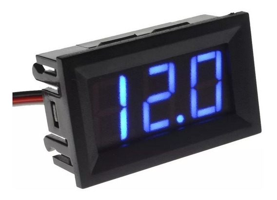 Voltímetro Digital Bateria Medidor Ac Som Automotivo Moldur