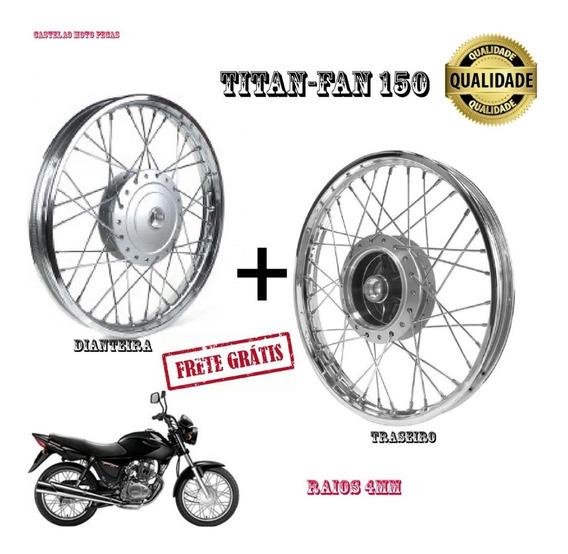 Par Aro Roda Traseiro E Dianteiro Cg-fan-titan-start 150 4mm