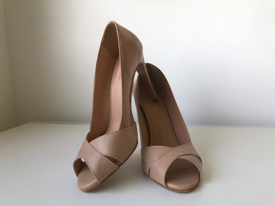 Peep Toe Nude Dafiti Shoes