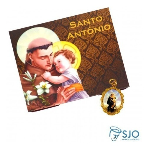 50 Cartões Com Medalha De Santo Antônio