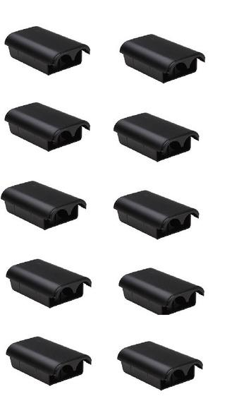 10 Tampas Bateria Controle Xbox 360 Pilhas Suporte Manete