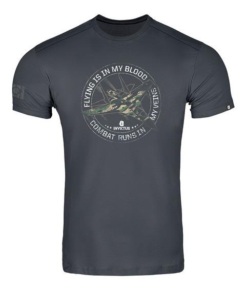 Camiseta Invictus T-shirt Concept Thunderbolt Estilo Militar
