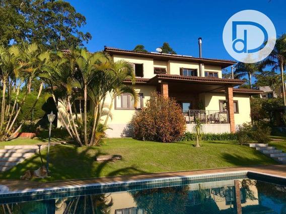 Casa Com 4 Dormitórios À Venda, 450 M² Por R$ 2.800.000,00 - Condomínio Santa Fé - Vinhedo/sp - Ca3853