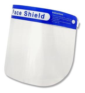 Máscara Facial Protetora Anti-respingo Transparen Faceshield