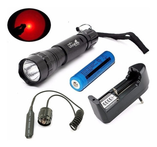 Lanterna Ultrafire 501b Luz Vermelha Completa
