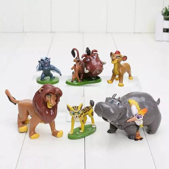 Personagens Miniaturas Rei Leão Pvc Disney C/6pcs