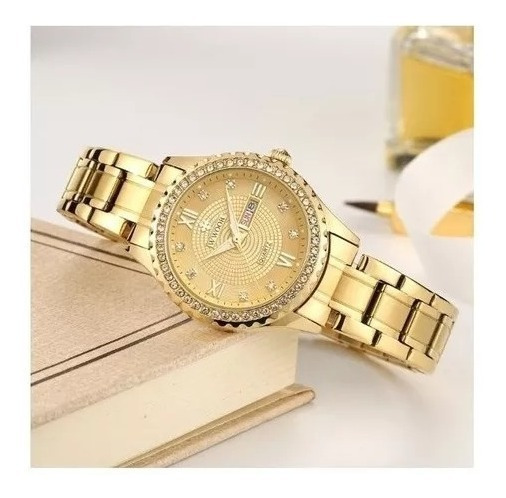 Relógio Feminino De Pulso Wwoor 8856 Varias Cores