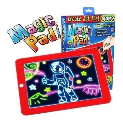 Tableta De Dibujo Con Luz Led Magic Pad 3 Marcadores Gratis