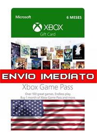 Xbox Game Pass 6 Meses - Eua E Serve Para Br Também