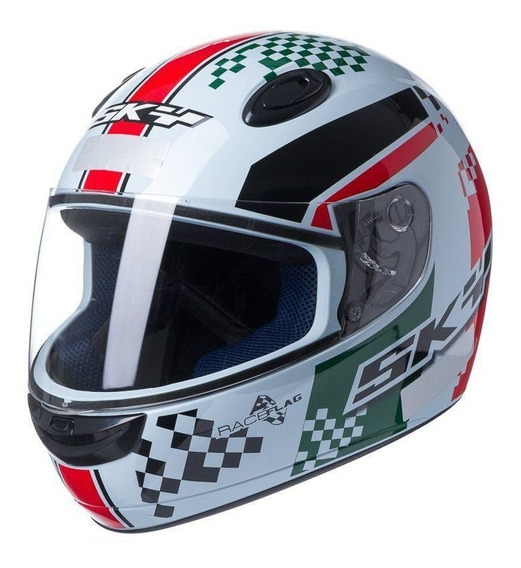 Capacete Collection Sky Race Flag Italy Motosky
