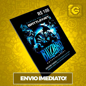 Cartão Blizzard R$ 100reais Battle.net Wow World Of Warcraft