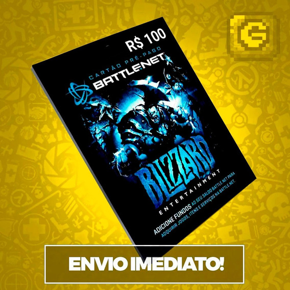 Cartão Blizzard R$ 100reais Battle.net Wow World Of Warcraft